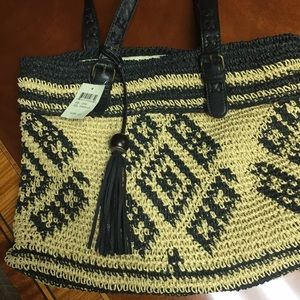 Lucky Brand straw purse